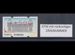 Rumänien ATM Wert 500 postfrisch ** mit rückseitiger Zählnummer