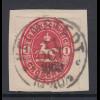 Altdeutschland Braunschweig 1 Groschen rot Mi-Nr. 18 mit O HELMSTEDT a. Briefst