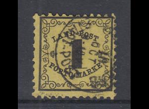 Altdeutschland Baden Portomarke Mi.-Nr. 1x gestempelt geprüft Georg Bühler