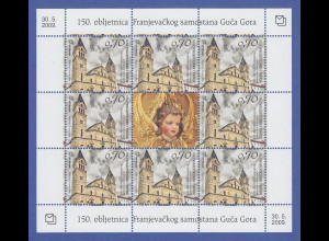 Bosnien (kroatische Post) Kleinbogen Mi.-Nr. 262 Franziskaner-Kloster Guca Gora