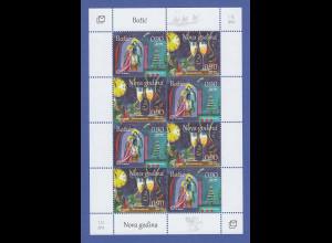Bosnien (kroatische Post) Kleinbogen Mi.-Nr. 402-403 Weihnachten / Neujahr **