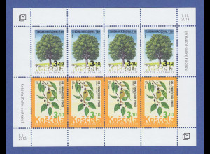 Bosnien (kroatische Post) 2013 Kleinbogen Mi.-Nr. 372-73 Flora Zürgelbaum **