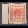 Lokalausgaben Stadt Görlitz, Mi.-Nr. 15 mit Plattenfehler I gebrochenes Wappen