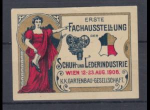 Vignetten / Reklamemarken Fachausstellung Schuh- und Lederindustrie Wien 1908