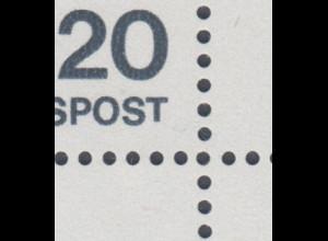 Bund 1974 Expressionisten Mi.-Nr. 823 ER-Viererblock mit Plattenfehler kurzes T