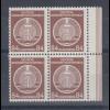 DDR Dienstmarken A Höchstwert 84Pfg Mi.-Nr. 17 XI Rand-Viererblock **