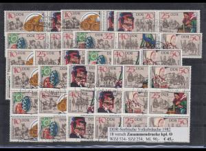 DDR Volksbräuche 1982 Mi.-Nr. 2716-2721, 18 ZSD kpl. Garnitur echt O