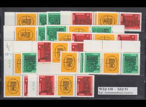 DDR Leipziger Messe 1964 Mi.-Nr. 1012-1013, 16 ZSD kpl. Garnitur **