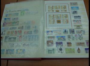 Bund, 1980- ca. 1981-91, weitgehend komplette postfrische Sammlung