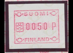 Finnland ATM 1.Ausgabe FRAMA Mi.-Nr. 1 Einzelwert 0050 **