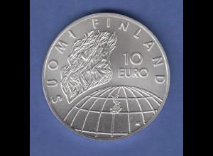 Finnland 2002 Silbermünze 10 Euro 50 Jahre Olympische Spiele Helsinki , stg