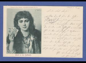AK E.Hadez Blick in die Zukunft, gelaufen 1899
