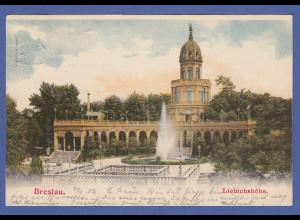AK Breslau Liebichshöhe gelaufen 1902
