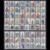 Bund Sehenswürdigkeiten Dauerserie kpl. mit allen 64 DM- und Euro-Werten **