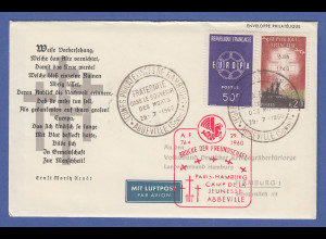 Frankreich 1960 Brief mit Sonder-O Jeunes philatelistes de Hambourg Abbeville
