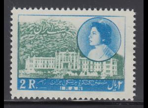 Persien / Iran 1957 Medizinischer Kongress im Ramsar-Hotel, Mi.-Nr. 998 **