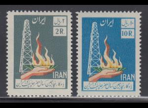 Persien / Iran 1958 50 Jahre Ölförderung im Iran , Mi.-Nr. 1022-23 **