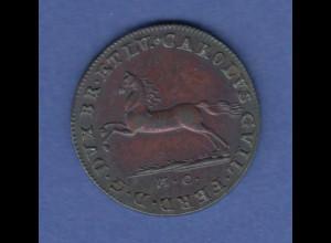 Braunschweig-Wolfenbüttel 2 1/2 Pfennige 1792 erlesenes Stück mit schöner Patina