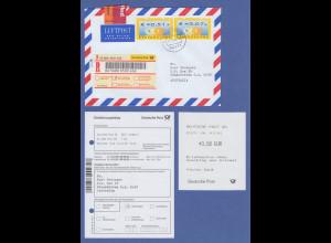 Deutschland ATM Mi.-Nr. 4 R-Brief aus Kerpen mit Werten €0,51 und €3,07