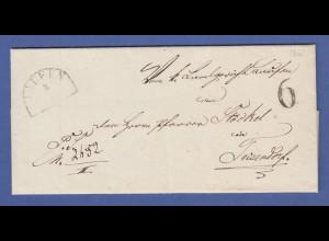 Bayern Dienstbrief 1860 gel. von LAUFEN nach Teisendorf mit selt. Tax-Stempel 6