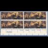 USA 1976 200 Jahre Unabhängigkeit. 16er-Block mit 5 Plattennummern / MAIL **