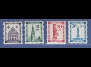 Französische Zone, Baden Wiederaufbau Mi.-Nr. 38-41 Serie kpl. postfrisch **