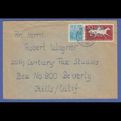 Brief 1957 aus der DDR gelaufen an Hollywood Filmschauspieler Robert Wagner !