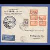 Zeppelin LZ 127 Ungarnfahrt 1931 Brief mit Ungarn Frankatur Mi.-Nr. 467 und 479