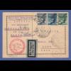 Dt. Reich Zeppelin LZ 127 Südamerikafahrt Karte aus Österreich nach Lima / Peru