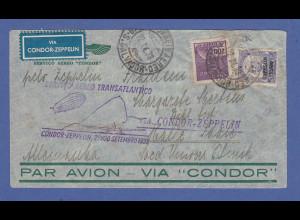 Zeppelin LZ 127 7. Südamerikafahrt 22.9.1933 Brief a. Brasilien nach Deutschland