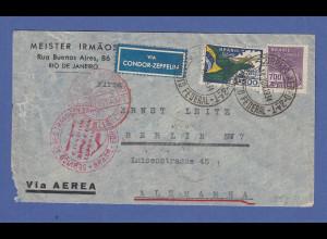 Zeppelin LZ 127 Südamerikafahrt Juni 1934, Brief aus Brasilien gel. n. Deutschl.