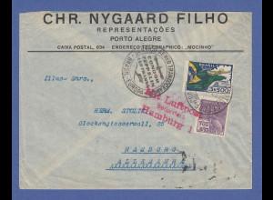 Zeppelin LZ 127 Südamerikafahrt Juni 1934, Brief gel von Brasilien nach Hamburg