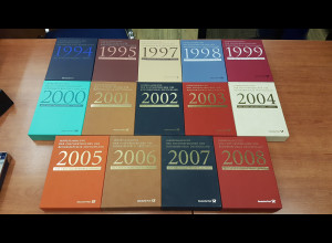 Bundesrepublik 14 Jahressamlungen 1994-2008 mit Ersttagsstempel Bonn.