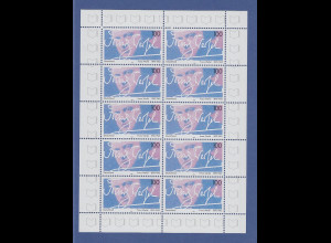 Zehnerbogen ** 1995 Mi.-Nr. 1813 50.Todestag von Franz Werfel