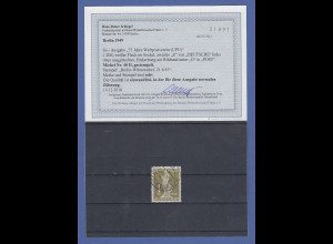 Berlin UPU Stephan 1 DM Mi.-Nr. 40 II mit seltenem PLATTENFEHLER II gepr. BPP