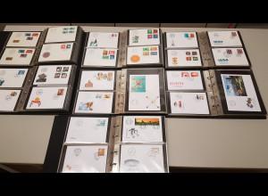 Schweiz komplette FDC-Sammlung 1970-2010 in 7 Alben. Alle in Top-Erhaltung.