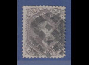 USA Freimarke gez. Ausgabe 1861 24 Cent George Washington Mi.-Nr. 23 gestempelt