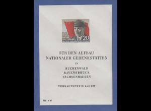 DDR 1956, Blockausgabe Ernst Thälmann , Mi.-Nr. Block 14 postfrisch **