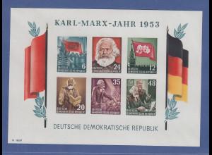 DDR 1953 Mi.-Nr. Block 8B YII Karl Marx Block postfrisch **