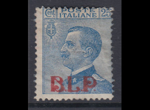 Italien B.L.P. Kartenbrief-Marke 25 C. Type I Mi.-Nr. B 90 Ia ungebraucht *