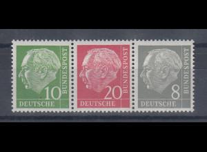 Bundesrepublik: Heuss Zusammendruck W 22 Y I **