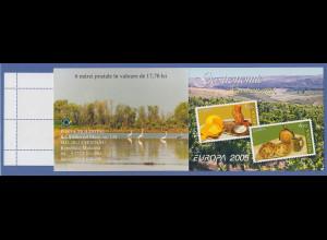 Moldavien 2005 EUROPA Gastronomie Mi.-Nr. 511-12 Markenheftchen MH 9 gestempelt