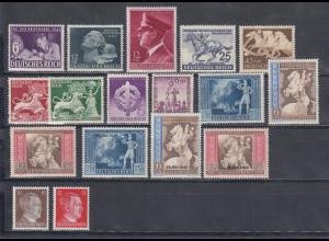 Deutsches Reich: alle Briefmarken des Jahrgangs 1942 komplett postfrisch **