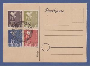 Alliierte Besetzung Friedenstaube 1-5 Mark Mi.-Nr. 959-62 mit Sonder-O LEIPZIG