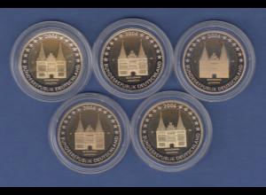 Deutschland 2 Euro 2006 Schleswig-Holstein Lübeck Satz ADFGJ in PP-Prägung