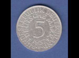 Bundesrepublik Kursmünze 5 Mark Silber-Adler 1957 F