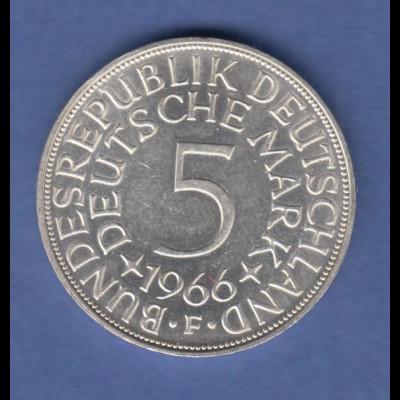 Bundesrepublik Kursmünze 5 Mark Silber-Adler 1966 F