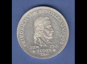 5DM Silber-Gedenkmünze 1955, Friedrich Schiller. VORZÜGLICH