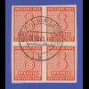 SBZ West-Sachsen Ziffern 8 Pfg Mi.-Nr. 118 Y Viererblock gestemp. und gepr. BPP