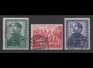 DDR 1951 Deutsch-Chinesische Freundschaft Mi.-Nr. 286-288 Satz 3 Werte gestemp.